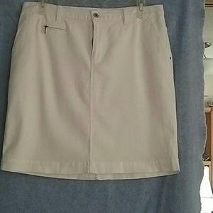 Jean skirt White